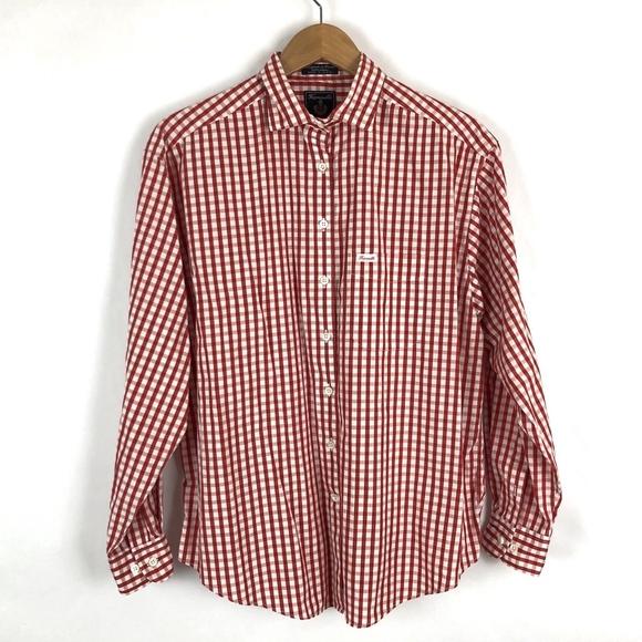80df4c6829695b Faconnable Shirts   Men Gingham Shirt Red White   Poshmark